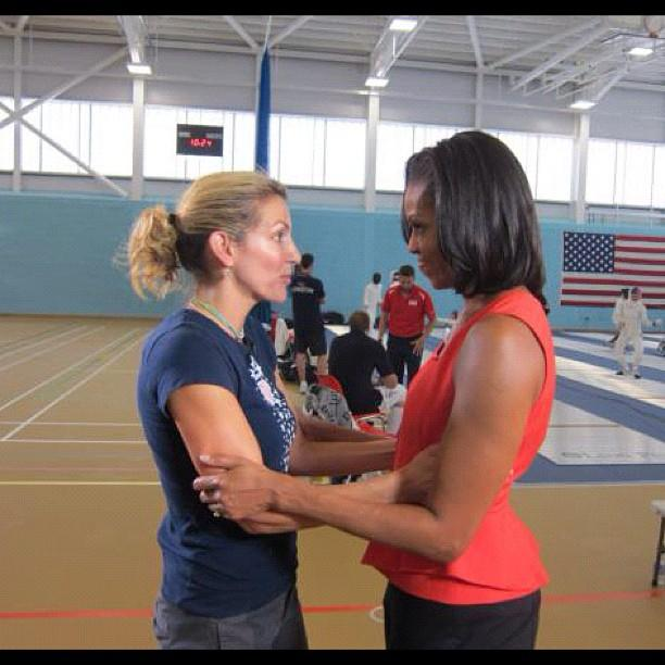 Our @SummerSanders_ shares a great moment w/ @MichelleObama.