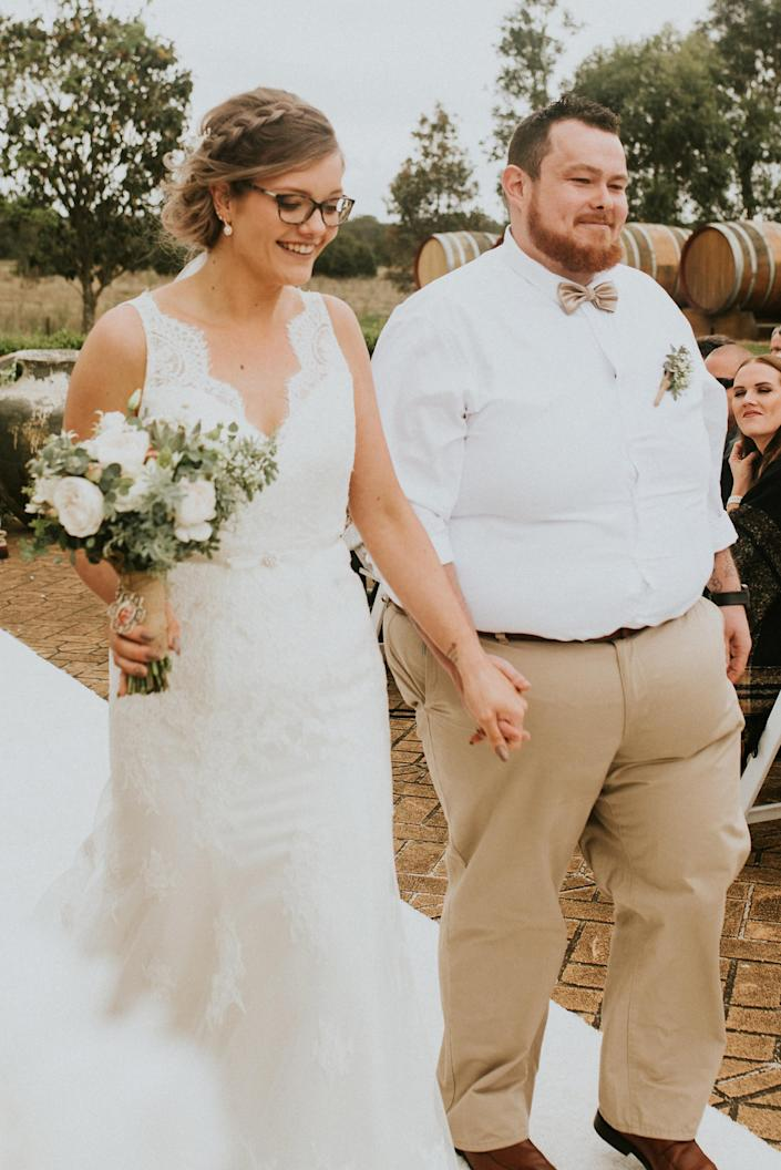 The couple credit their weight loss to the keto diet [Photo: Caters News Agency]