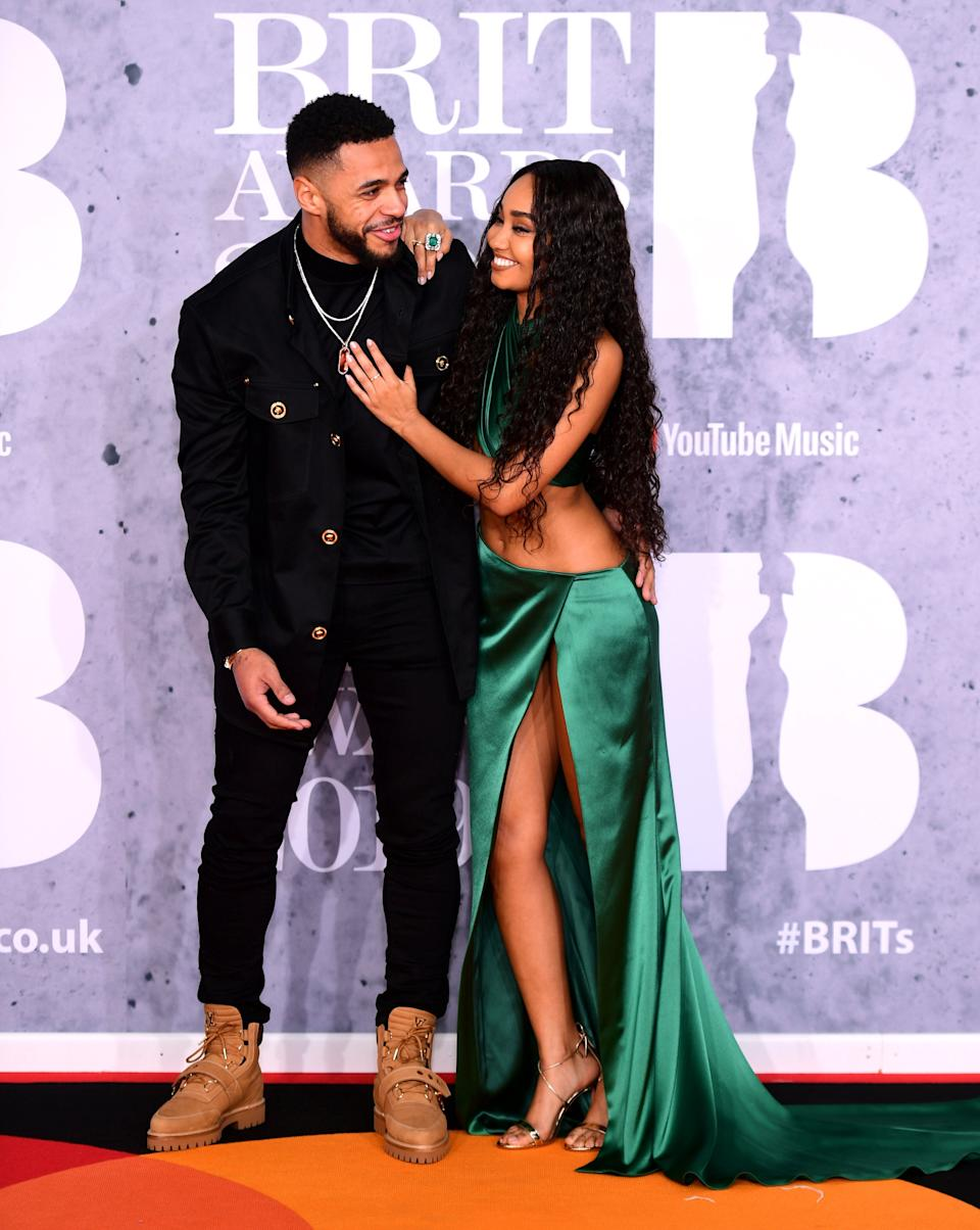 Andre Gray and Leigh-Anne Pinnock at the 2019 Brit Awards (Photo: Ian West - PA Images via Getty Images)