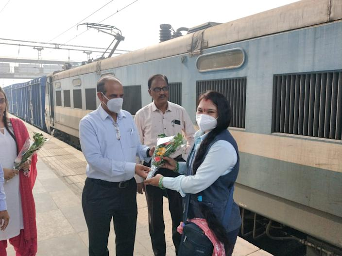 In a society where flying airplanes is far more aspirational than driving a train, Kumkum Suraj Dongre dreamt of riding a train all her childhood.