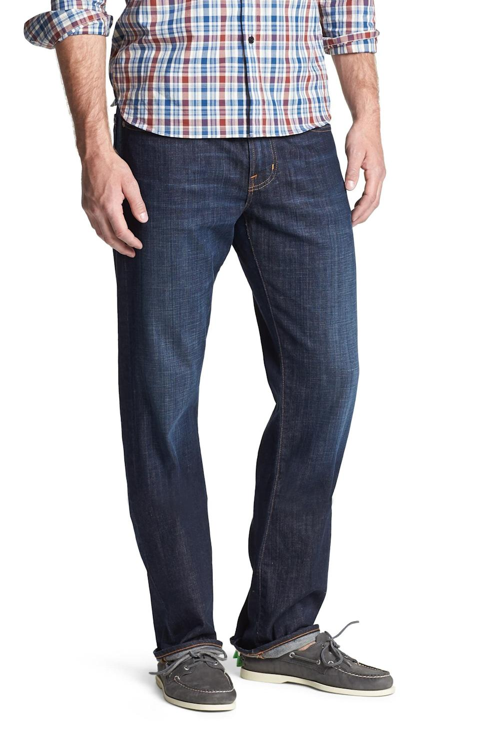 """AG's known for its denim, and these jeans are on the more expensive side. But you can rest a little easier knowing that this pairhas over 90 5-star reviews. <strong><a href=""""https://fave.co/2tLdI2j"""" target=""""_blank"""" rel=""""noopener noreferrer"""">Find this pair at Nordstrom</a></strong>."""
