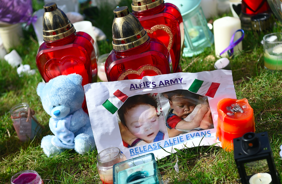 <p>Baby Alfie Evans, who suffered from a neurodegenerative disorder, was the subject of a legal battle surrounding his life support. His plight came to the attention of the Pope but Alfie sadly died who died in April, aged 1 year 11 months, a few days after his life support was switched off. (Getty) </p>