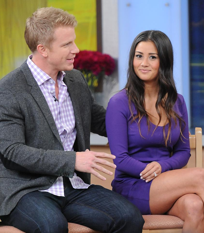 Sean Lowe and Catherine Giudci stop by 'Good Morning America' in NYC. Pictured: Sean Lowe and Catherine Giudci Ref: SPL509586  120313  Picture by: Splash News   Splash News and Pictures Los Angeles:310-821-2666 New York:212-619-2666 London:870-934-2666 photodesk@splashnews.com