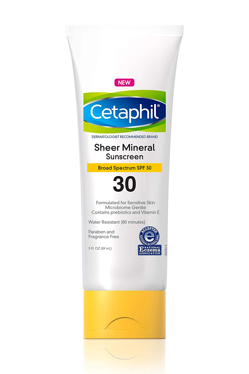 """<p><strong>Cetaphil</strong></p><p>amazon.com</p><p><strong>$13.49</strong></p><p><a href=""""https://www.amazon.com/dp/B08HH7NWVB?tag=syn-yahoo-20&ascsubtag=%5Bartid%7C10049.g.35863427%5Bsrc%7Cyahoo-us"""" rel=""""nofollow noopener"""" target=""""_blank"""" data-ylk=""""slk:Shop Now"""" class=""""link rapid-noclick-resp"""">Shop Now</a></p><p>This drugstore SPF is made especially for sensitive skin (lucky you!). You won't find any fragrances, parabens, or known irritants in its formula—just gentle <strong>mineral blockers, soothing <a href=""""https://www.cosmopolitan.com/style-beauty/beauty/a27609307/vitamin-e-for-skin-benefits-products/"""" rel=""""nofollow noopener"""" target=""""_blank"""" data-ylk=""""slk:vitamin E"""" class=""""link rapid-noclick-resp"""">vitamin E</a>, and water resistant coverage</strong>. P.S. You can use this one on your face <em>and</em> body.</p>"""