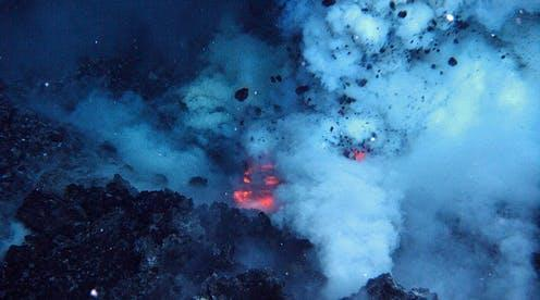 """<span class=""""caption"""">An area on the summit of the West Mata Volcano erupting in 2009.</span> <span class=""""attribution""""><a class=""""link rapid-noclick-resp"""" href=""""https://oceanexplorer.noaa.gov/facts/volcanoes.html"""" rel=""""nofollow noopener"""" target=""""_blank"""" data-ylk=""""slk:NOAA / NSF / WHOI"""">NOAA / NSF / WHOI</a></span>"""
