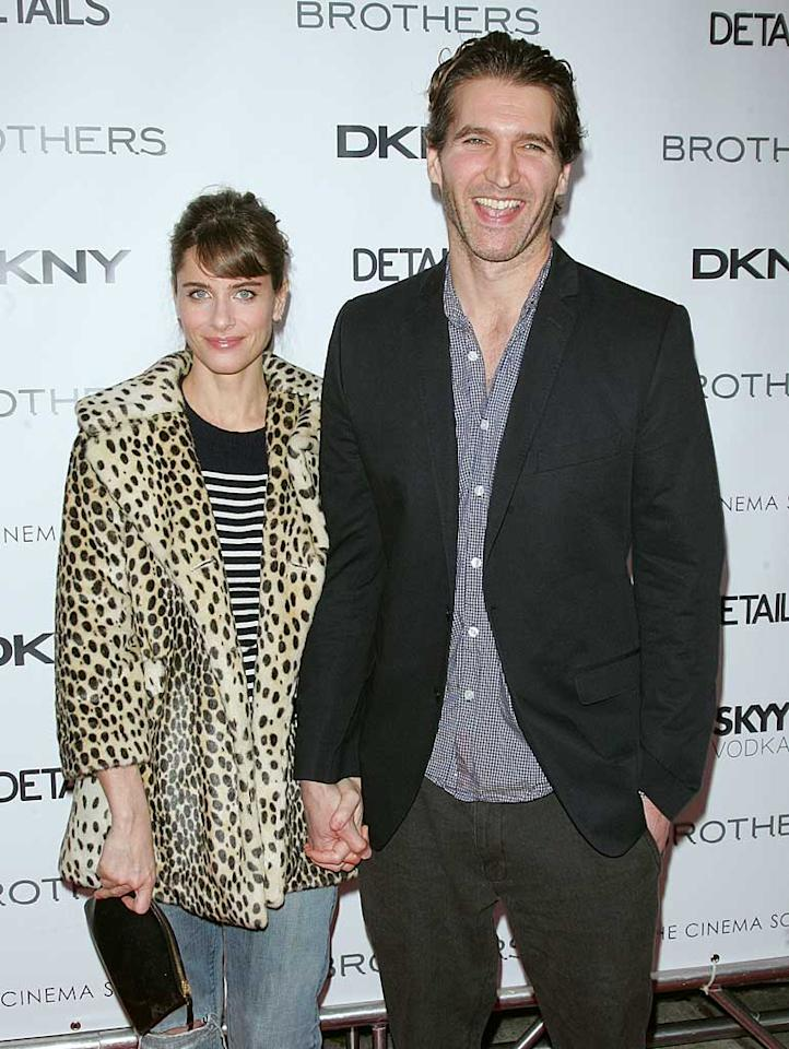 """Amanda Peet and her writer hubby David Benioff became the proud parents of a daughter, Molly June, on April 19. The little one joined big sister Frances, 3. Jim Spellman/<a href=""""http://www.wireimage.com"""" target=""""new"""">WireImage.com</a> - November 22, 2009"""