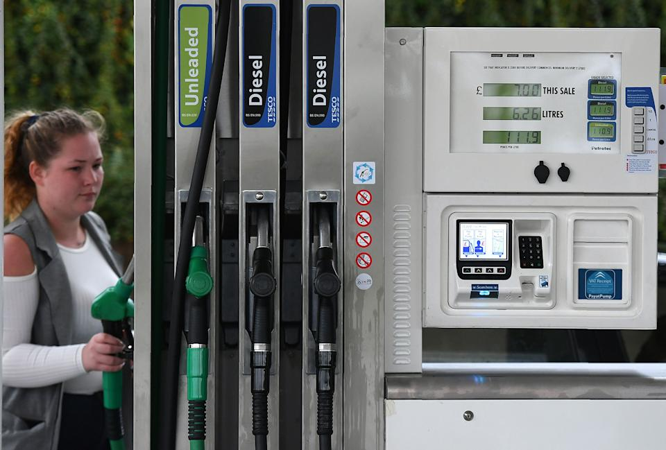 Some 600,000 people in England and Wales being told to self-isolate last week is impacting petrol stations. Photo: Anthony Devlin/AFP via Getty Images