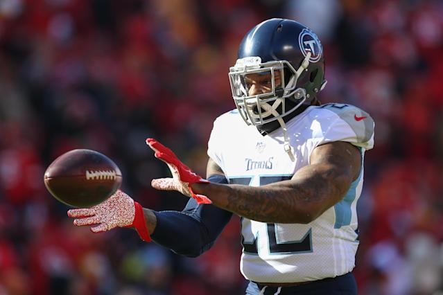 Derrick Henry, the receiving back? (Photo by Scott Winters/Icon Sportswire via Getty Images)