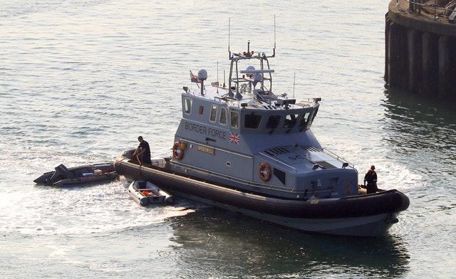 Border Force vessel Speedwell arrives at the Port of Dover