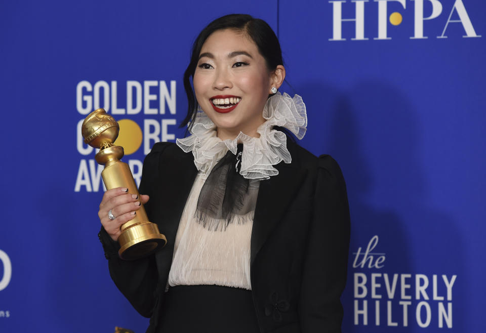 Awkwafina won the Golden Globe for Best Actress (Musical or Comedy) for her work in 'The Farewell'. (AP Photo/Chris Pizzello)