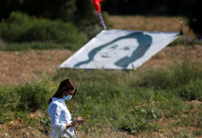 FILE PHOTO: Third anniversary of the assassination of journalist Daphne Caruana Galizia, in Bidnija