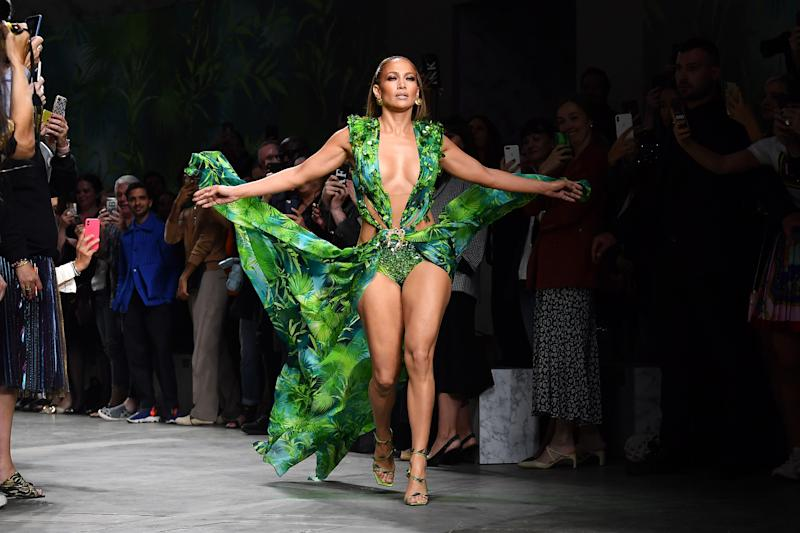 Jennifer Lopez will be on billboards and magazine pages as the star of Versace's Spring/Summer 2020 collection, she announced on Instagram Saturday. (Photo: Jacopo Raule/Getty Images)