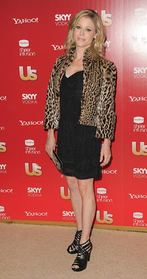 """Sitcom Mom of the Year"" Julie Bowen (""Modern Family"") paired her cute LBD with strappy heels and a ferocious faux fur coat. Jordan Strauss/<a href=""http://www.wireimage.com"" target=""new"">WireImage.com</a> - November 18, 2009"