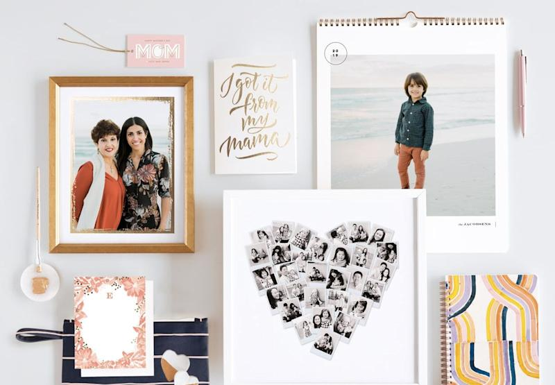 From custom cards and calendars to a photo book, celebrate the mom in your life with a personalized gift.. (Photo: Minted)