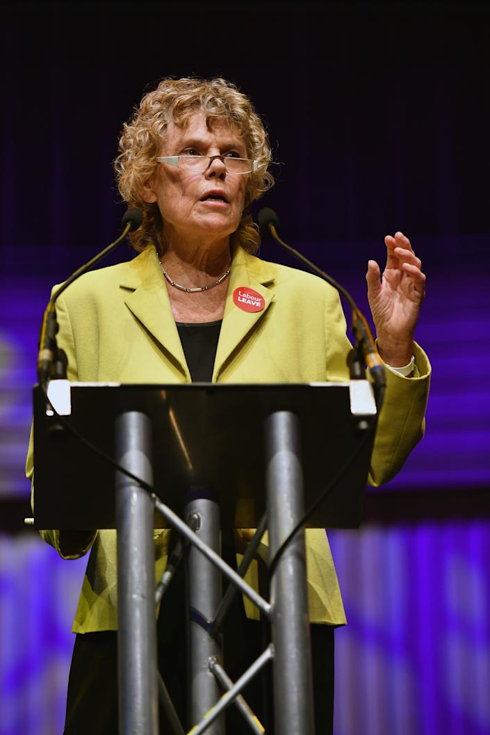 GATESHEAD, ENGLAND - JUNE 20: Labour Leave's Kate Hoey attend the final 'We Want Our Country Back' public meeting of the EU Referendum campaign on June 20, 2016 in Gateshead, England. Campaigning continues across the UK as the country goes to the polls on Thursday, to decide whether Britain should leave or remain in the European Union. (Photo by Jeff J Mitchell/Getty Images)