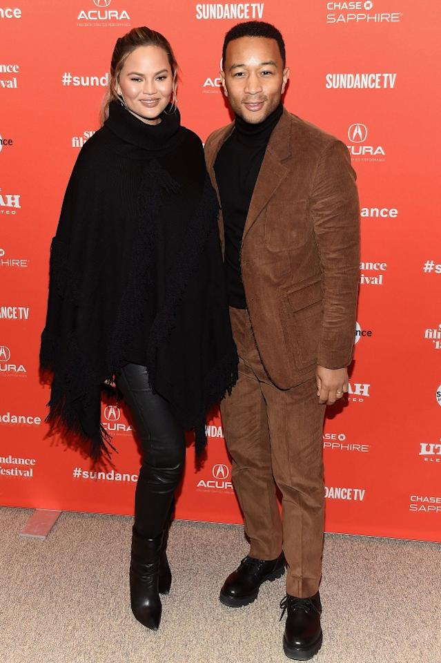 The couple is currently attending the Sundance Film Festival to promote Legend's film 'Monster.'