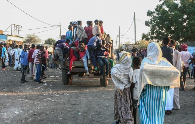 Thousands have fled to neighbouring Sudan
