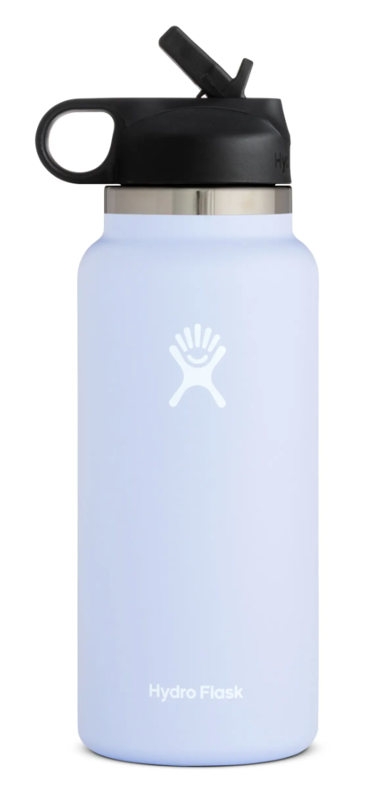 Hydro Flask 32-Ounce Wide Mouth Bottle with Straw Lid in Fog