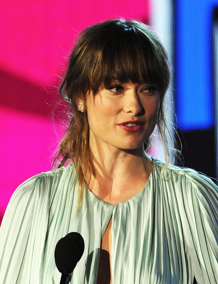 HOLLYWOOD, CA - AUGUST 14:  Actress Olivia Wilde accepts the Do Something Movie Star award onstage during the 2011 VH1 Do Something Awards at the Hollywood Palladium on August 14, 2011 in Hollywood, California.  (Photo by Kevin Winter/Getty Images)