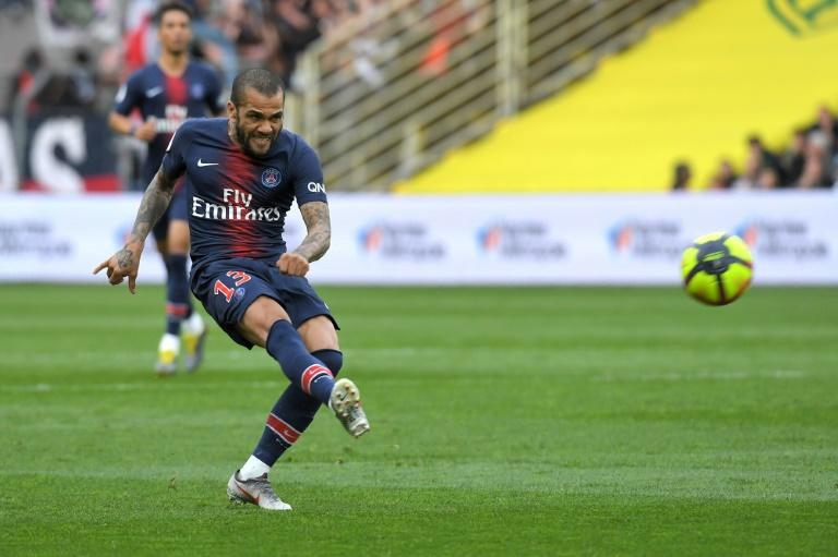 Dani Alves scored for PSG at Nantes in midweek, but a 3-2 defeat saw them miss the chance to wrap up the Ligue 1 title