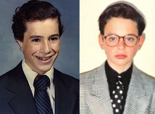 Stephen Colbert, left, and Nick Kroll, right, launched the #puberme campaign last week. They posted these photographs online to get the ball rolling.