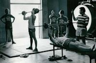 <p>Thanks to Schwarzenegger, big muscles were in fashion and weight lifting quickly became the latest exercise trend—especially with young men. </p>