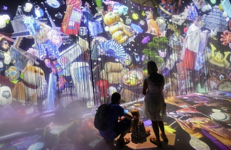 An animated wall was one of the attractions at the Japanese pavilion (AFP/Giuseppe CACACE)
