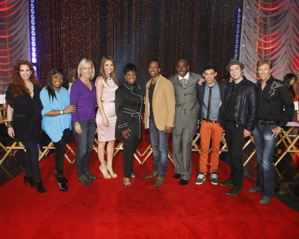 "The celebrity cast of ""<a href=""http://tv.yahoo.com/dancing-with-the-stars/show/38356"">Dancing With the Stars</a>"" Season 14."