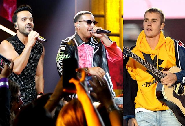 "<p>""Despacito"" by Luis Fonsi & Daddy Yankee featuring Justin Bieber is a genre-bridging song that has artists of different races and countries of origin working together. That will speak to a lot of Grammy voters, especially in the Donald Trump era. (Photo: Getty Images) </p>"