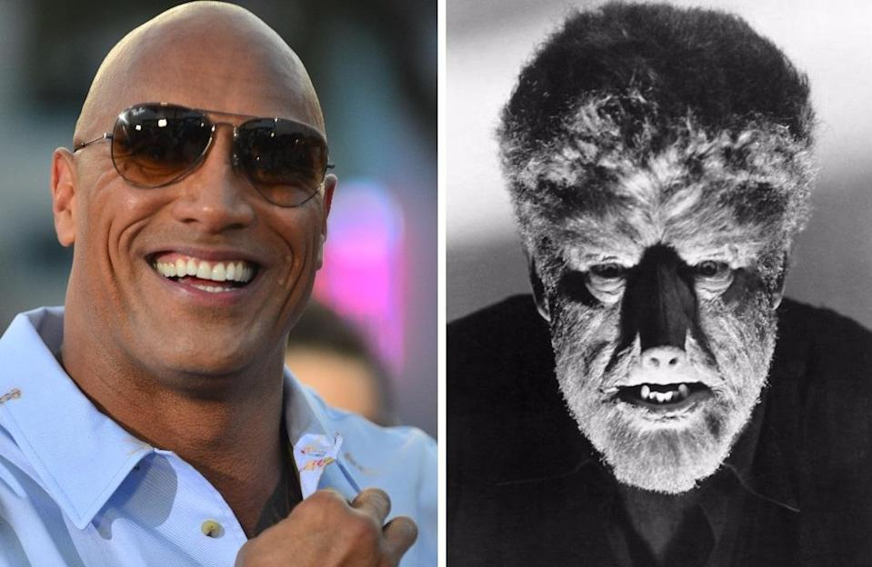 Is Dwayne Johnson set to join the Dark Universe as the Wolf Man? (Credit: WENN/Universal)