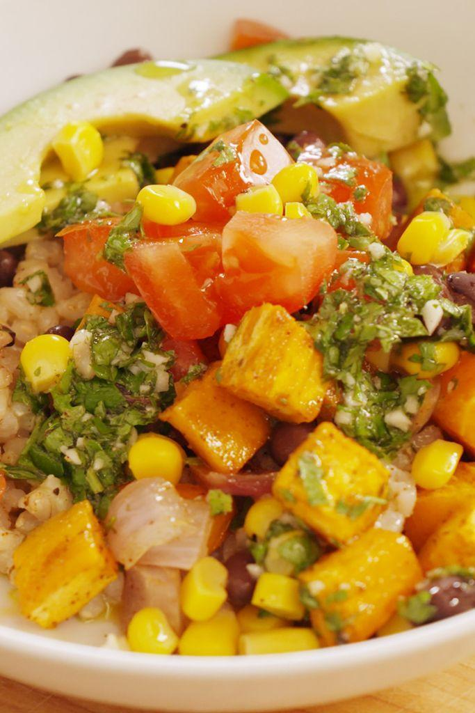 "<p>Healthy eating should never mean sacrificing burrito bowls.</p><p>Get the recipe from <a href=""/cooking/recipe-ideas/recipes/a53000/southwestern-burrito-bowl-recipe/"" data-ylk=""slk:Delish"" class=""link rapid-noclick-resp"">Delish</a>.</p>"