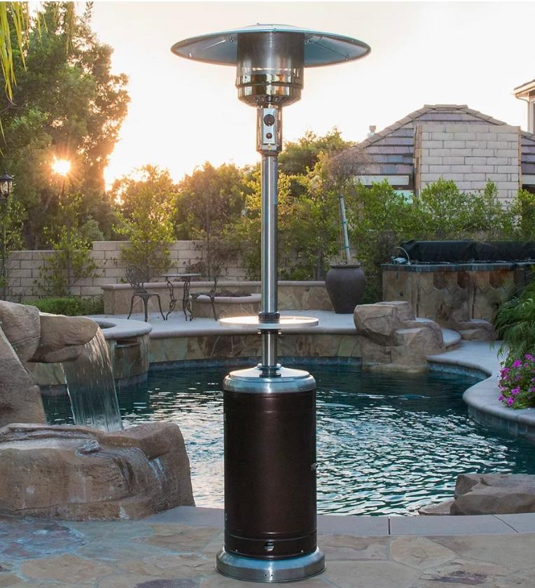Outdoor Steel Propane Patio Heater. (Image via The Home Depot)