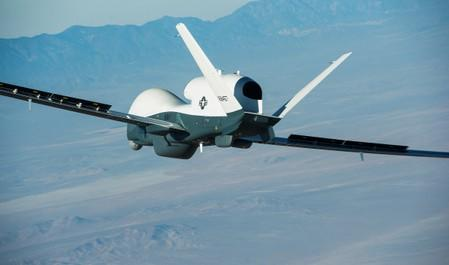 The Northrop Grumman-built Triton unmanned aircraft system completed its first flight from the company's manufacturing facility in Palmdale