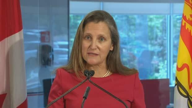 Deputy Prime Minister Chrystia Freeland announced that the government will be extending a number of economic support programs related to the COVID-19 pandemic. (Mikael Mayer/Radio-Canada - image credit)