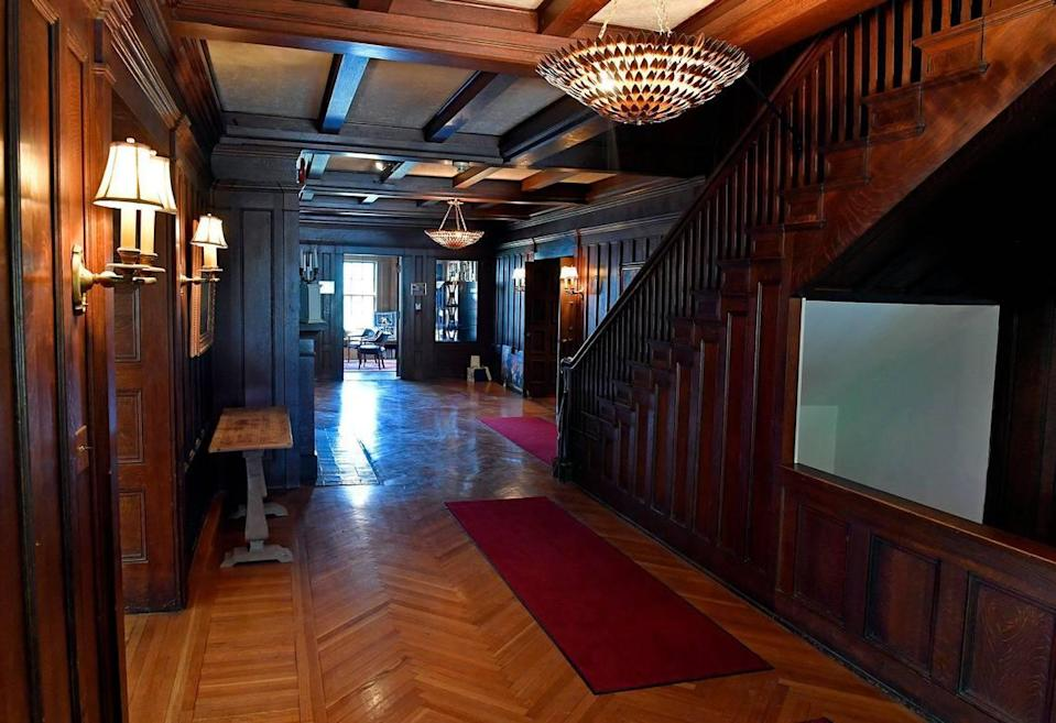 The main entryway of the former Kirkwood mansion.