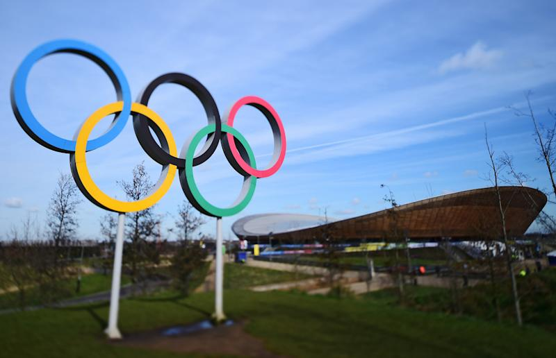 The Olympic Rings outside the Lee Valley VeloPark velodrome are a reminder of the 2012 London Games