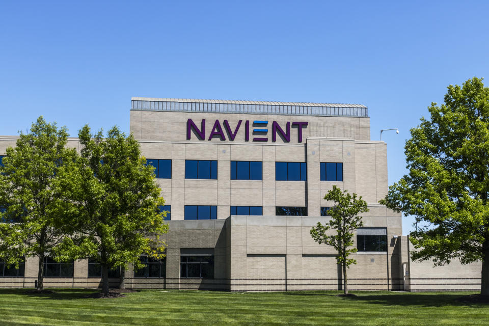Fishers - Circa May 2017: Navient Corporation Indianapolis Location. After the split from Sallie Mae, Navient services and collects on student loans I