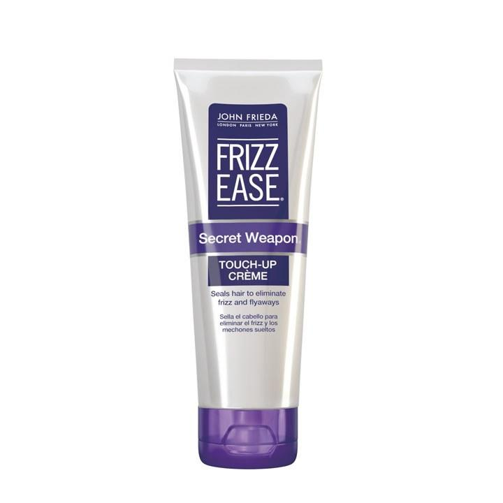 """<p>John Frieda Frizz Ease Secret Weapon Touch Up Crème, $7, <a rel=""""nofollow"""" href=""""https://www.target.com/?mbid=synd_yahoobeauty"""">target.com</a> I recently used this as the DSquared AW'16 show. We applied it through the hair, section by section, to give natural body and movement.</p>"""