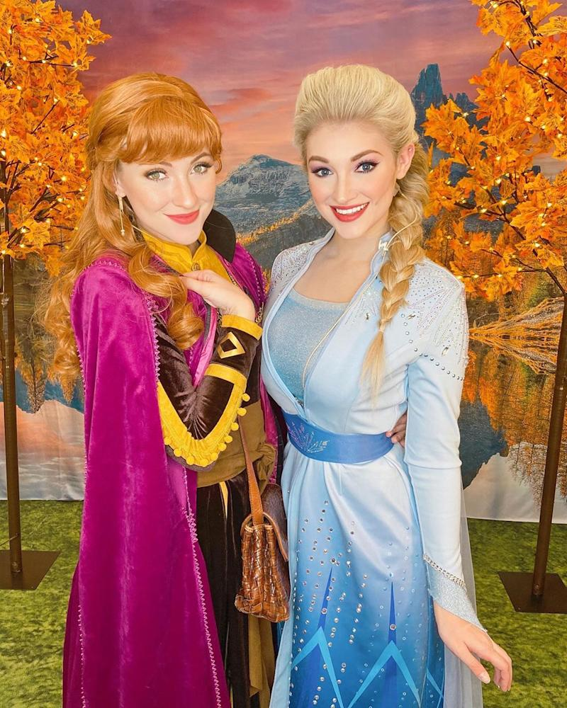 Disney Princess cosplayers, like the Frost Sisters, turn to virtual entertainment during coronavirus pandemic. (Photo: Instagram/frostsisters)