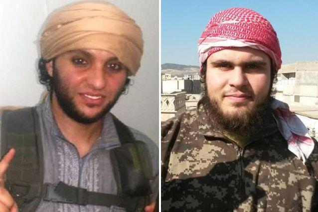 Muhammed Sheglabo (left), a Perth student, has fought with IS, as has former Melbourne man Mounir Raad (right).