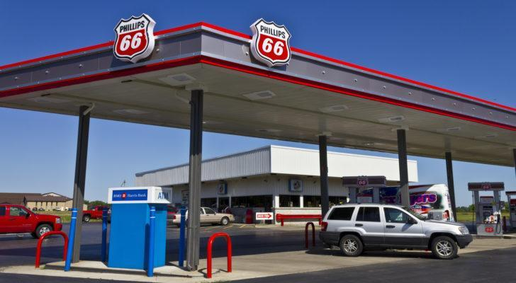 Phillips 66 (PSX) gas station in the daytime