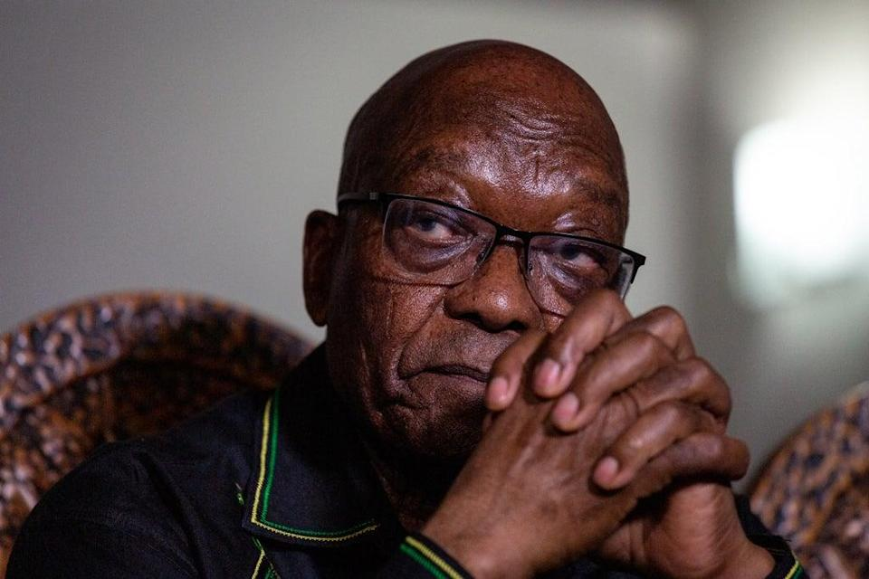 South Africa's top court has dismissed a bid by former president Jacob Zuma (pictured) to overturn his 15-month jail sentence (EPA)