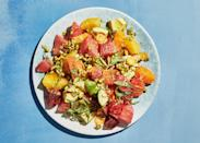 """Salting the citrus draws out some of the juice, which becomes part of the vinaigrette. <a href=""""https://www.bonappetit.com/recipe/citrus-and-avocado-salad-with-orange-water?mbid=synd_yahoo_rss"""" rel=""""nofollow noopener"""" target=""""_blank"""" data-ylk=""""slk:See recipe."""" class=""""link rapid-noclick-resp"""">See recipe.</a>"""