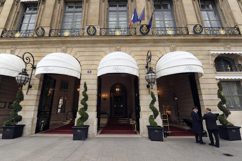 The entrance of the Ritz hotel in Paris, seen on October 18, 2011 (AFP Photo/Miguel Medina)