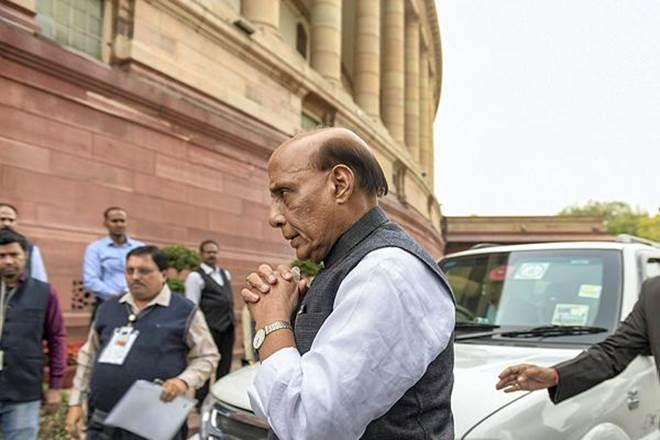 Defence Minister Rajnath Singh in Parliament on Tuesday morning to attend Winter session (PTI Image)