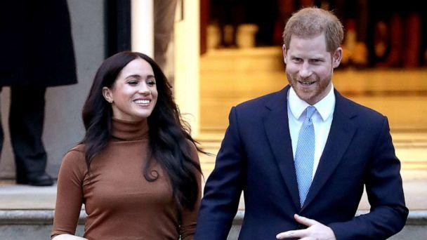 PHOTO: Prince Harry, Duke of Sussex and Meghan, Duchess of Sussex, depart Canada House on Jan. 7, 2020 in London. (Chris Jackson/Getty Images, FILE)