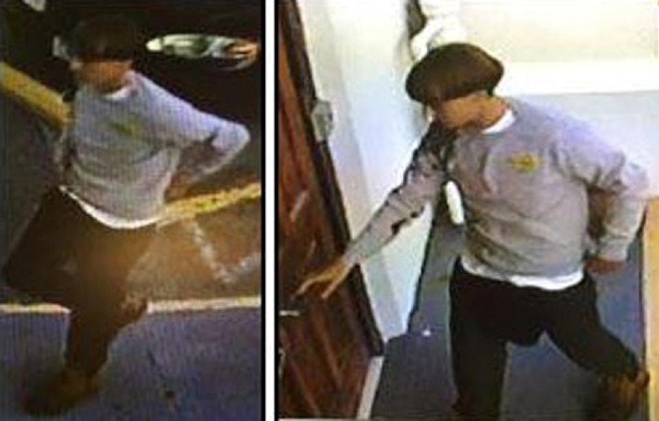 Charleston police said the suspected gunman is about 5 foot, 9 inches tall and in his early 20s (AFP Photo/)