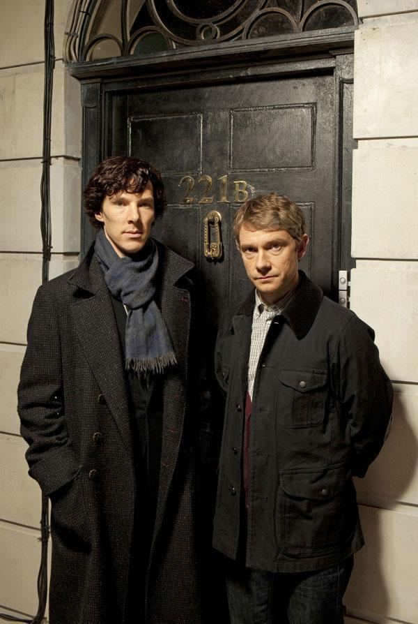 <p>Sherlock Holmes was killed off then resurrected. One of the most popular incarnations was played by Benedict Cumberbatch (left, with Martin Freeman as Watson)</p> (BBC)