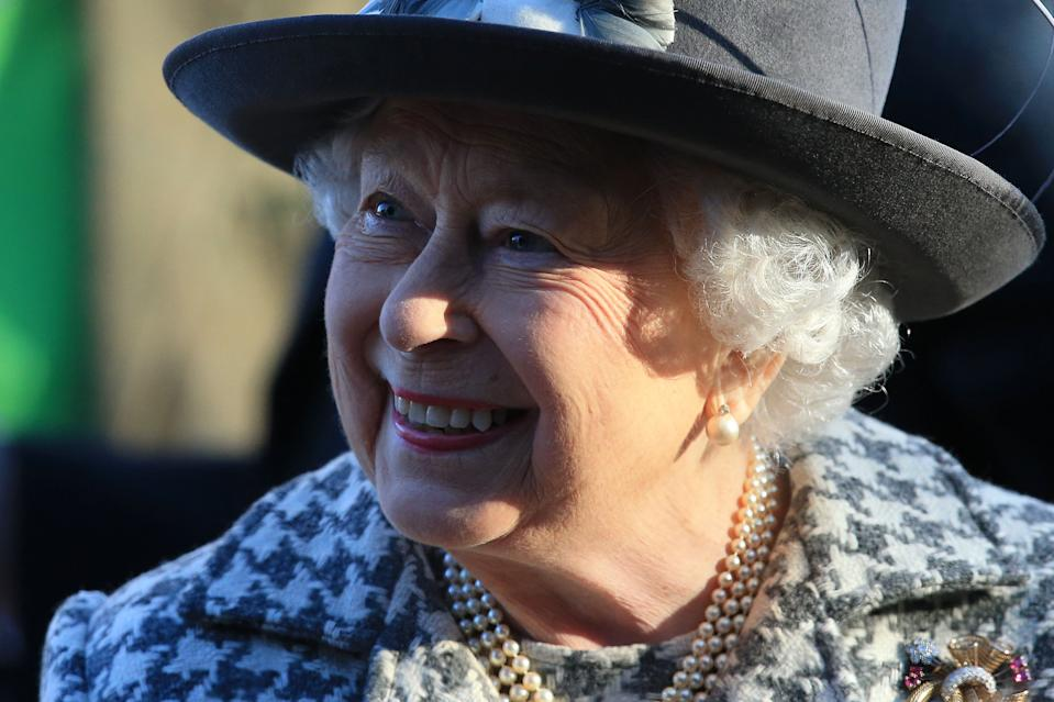 Britain's Queen Elizabeth II leaves after attending a church service at St Mary the Virgin Church in Hillington, Norfolk, eastern England, on January 19, 2020. - Britain's Prince Harry and his wife Meghan will give up their royal titles and public funding as part of a settlement with the Queen to start a new life away from the British monarchy. The historic announcement from Buckingham Palace on Saturday follows more than a week of intense private talks aimed at managing the fallout of the globetrotting couple's shock resignation from front-line royal duties. (Photo by Lindsey Parnaby / AFP) (Photo by LINDSEY PARNABY/AFP via Getty Images)