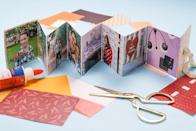 "<p>This Christmas, give a super-personal and homemade gift they'll cherish forever. Make a mini accordion scrapbook using photos from a special trip, event, or just favorite moments from the past year. Tie your little book with a bow for a pretty presentation with no extra wrapping required.</p><p><em><a href=""https://www.clubcrafted.com/diy-mini-accordion-scrapbook/"" rel=""nofollow noopener"" target=""_blank"" data-ylk=""slk:Get the tutorial at Club Crafted»"" class=""link rapid-noclick-resp"">Get the tutorial at Club Crafted»</a></em><strong><br></strong></p><p><strong>RELATED:</strong> <a href=""https://www.goodhousekeeping.com/holidays/gift-ideas/g1266/handmade-gifts/"" rel=""nofollow noopener"" target=""_blank"" data-ylk=""slk:75 DIY Christmas Gifts to Add Creativity and Heart to Your Holiday"" class=""link rapid-noclick-resp"">75 DIY Christmas Gifts to Add Creativity and Heart to Your Holiday</a></p>"